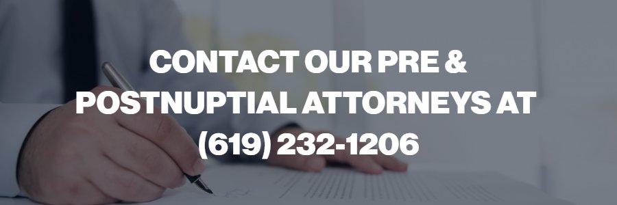 San Diego postnuptial lawyers
